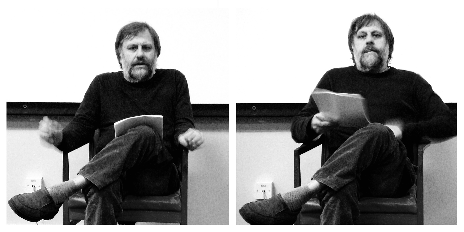 Zizek in action. Edited by Amy Hall. Original images copyright Andy Miah.